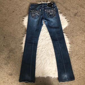 Miss Me boot cut jeans bling long inseam